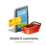 Bewegliches E-Commerce-Konzept Lizenzfreie Stockfotografie