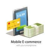 Bewegliches E-Commerce-Konzept Stockfotos
