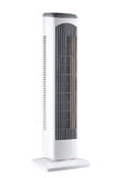 Bewegliches elektrisches Gebläse und Klimaanlage Stockfoto