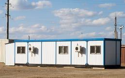Bewegliches Gebäude in der industriellen Site lizenzfreies stockbild