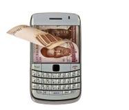 Bewegliches Geld Lizenzfreie Stockfotos
