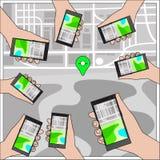 Bewegliches GPS-Navigationskonzept Lizenzfreie Stockbilder