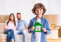 Bewegliches Haus der Familie lizenzfreies stockfoto