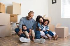 Bewegliches Haus der Familie Lizenzfreie Stockfotos