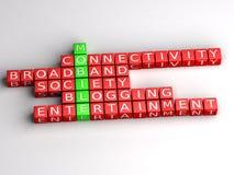 Bewegliches Internet-Kommunikationspuzzlespiel Stockfotos