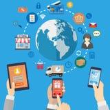 Bewegliches Marketing-Konzept Lizenzfreie Stockbilder