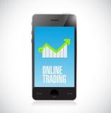 bewegliches Onlinehandelgeschäftsdiagramm Stockfotografie