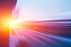 Bewegliches schnellstes Hochgeschwindigkeitskonzept, super schnelle schnelle Antriebsbewegungsunschärfe der Beschleunigung stockfotos