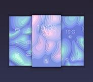 Bewegliches Schnittstellentapetendesign Stellen Sie mit abstraktem Vektor zurück ein Stockbild