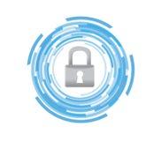 bewegliches Technologiesicherheitsikonen-Grafikkonzept Stockbild