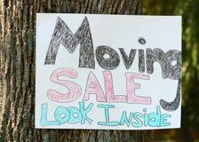 Bewegliches Verkaufs-Zeichen Lizenzfreie Stockfotos