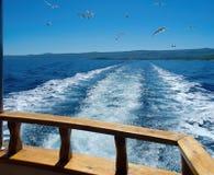Bewegt Boot wellenartig Lizenzfreie Stockfotografie