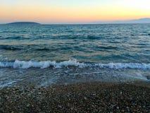 Bewegt Seelandschaften wellenartig Lizenzfreies Stockfoto