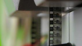 Bewegte Bilder Alte Schwarzweiss-Filme Abschluss oben stock video footage
