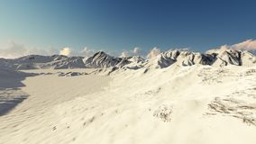 Bewegung über den schneebedeckten Bergen stock video footage