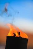 Bewegung der Feuerflamme Stockfotos