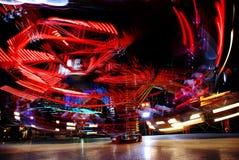 Bewegung der Leuchten Stockbild