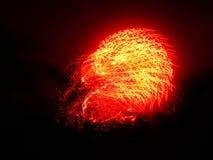 Bewegung des Feuerwerks Lizenzfreie Stockfotografie