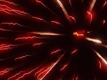 Bewegung des Feuerwerks Stockfoto