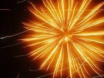 Bewegung des Feuerwerks Stockbild
