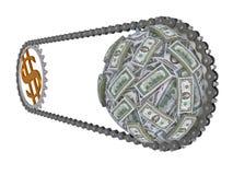 Bewegung des Geldes Lizenzfreies Stockbild