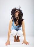 Bewegung des Kopfes Stockbild