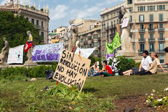 Bewegung des verärgerten 15-M spanishrevolution Stockfotografie