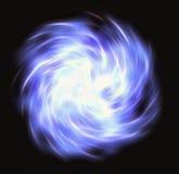 Bewegung gekräuselter blauer greller Strahl im Raum Lizenzfreie Stockfotos