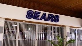Bewegung geschlossener Sears-Speicher inneren Coquitlam-Einkaufszentrums stock video footage