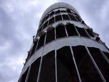 Bewegung Teufelsberg Berlin Former Spying Tower Slow in WindFootage-Clip stock video footage
