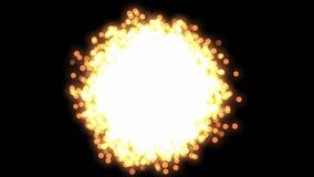 Bewegung von hellen Partikeln atome stock abbildung