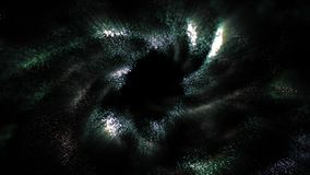 Bewegungs-abstrakte Partikel stock video