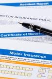 Bewegungs- oder Autoversicherungsanwendung Lizenzfreie Stockfotos