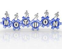 Bewegungs-Wort-Gang-Arbeitskraft-Fortschritt vorwärts stock abbildung