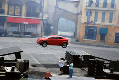 Bewegungsextreme Bremsungsshow Lizenzfreies Stockfoto