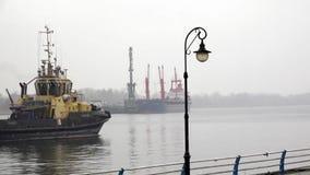 Bewegungsflusstransport entlang der Ufergegend stock footage