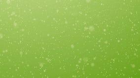 Bewegungspartikel auf hellgrünem stock video