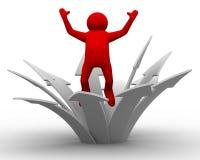 Bewegungsrichtung zum Erfolg stock abbildung