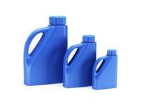 Bewegungsschmierölflasche getrenntes 3d übertragen Lizenzfreie Stockbilder