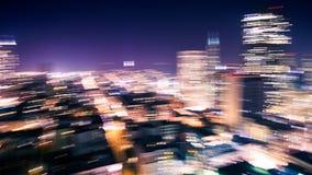 Bewegungsunschärfe von Stadt-Lichtern lizenzfreies stockfoto