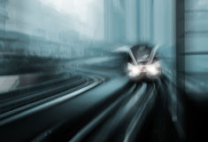 Bewegungsunschärfe des Hochgeschwindigkeitszuges Lizenzfreies Stockfoto