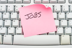 Bewerben Sie sich um Jobs online stockbild