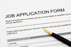 Bewerben um einen Job Lizenzfreie Stockbilder