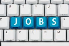 Bewerben um Jobs auf dem Internet Lizenzfreie Stockfotos