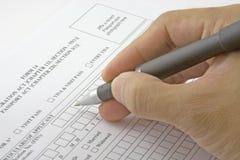 Bewerbungsformular Lizenzfreie Stockbilder