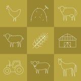 Bewerkend geplaatste pictogrammen Royalty-vrije Stock Afbeeldingen