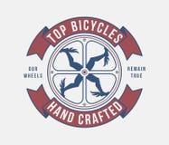Bewerkt fietsen hemels vector illustratie