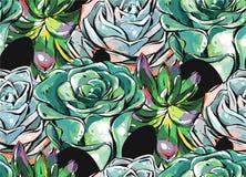 Bewerkte de hand getrokken vector abstracte geweven tekening van de inktborstel grunge naadloze de bloemencollage van decoratie s stock illustratie