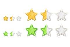 Bewertende Sterne Stockfotografie