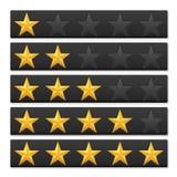 Bewertende Sterne Stockbild